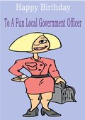 Local Government Officer - Greeting Card